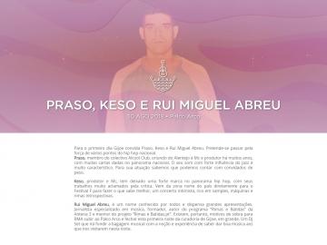 Praso, Keso e Rui Miguel Abreu @ Festival F (Palco Arco)