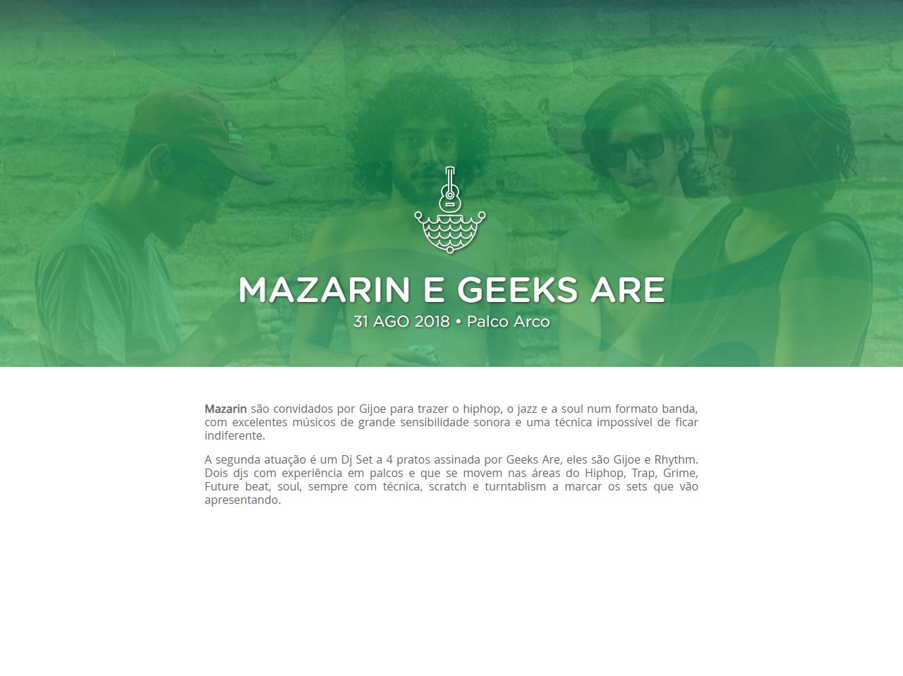 Mazarin e Geeks Are @ Festival F (Palco Arco)
