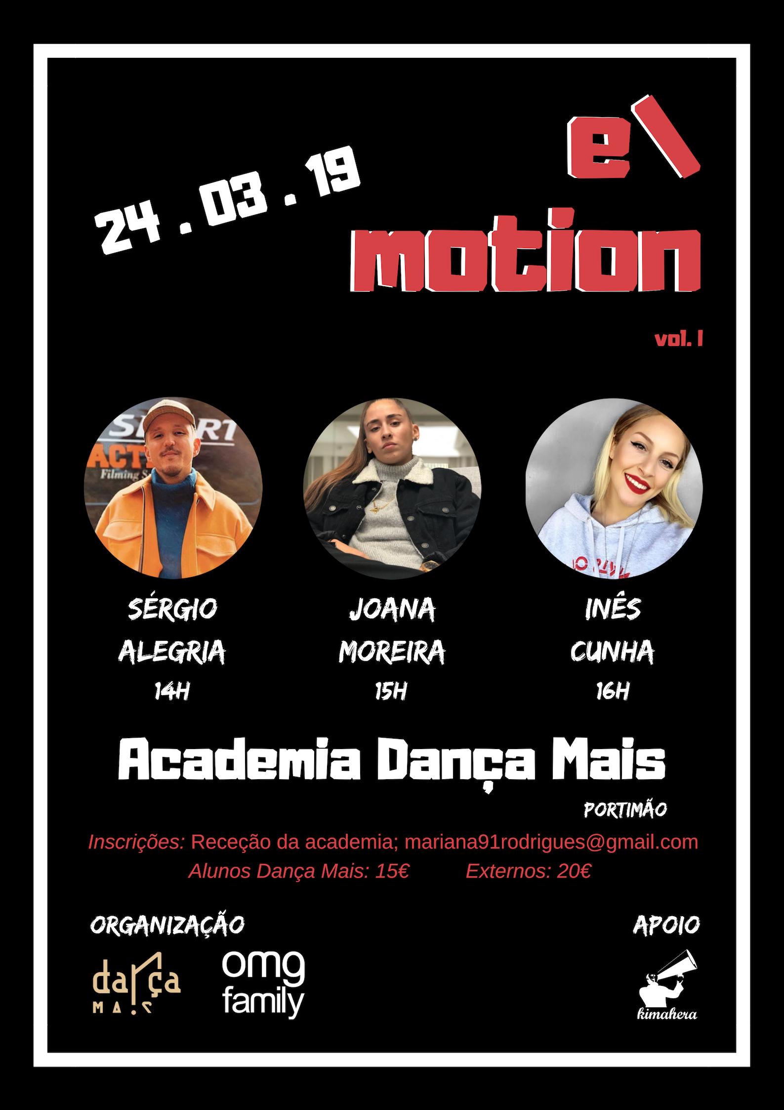 E-motion vol.1 @ Dança Mais (Portimão)