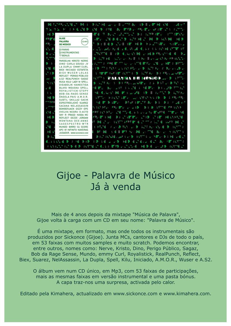 Gijoe - Palavra de Músico já à venda