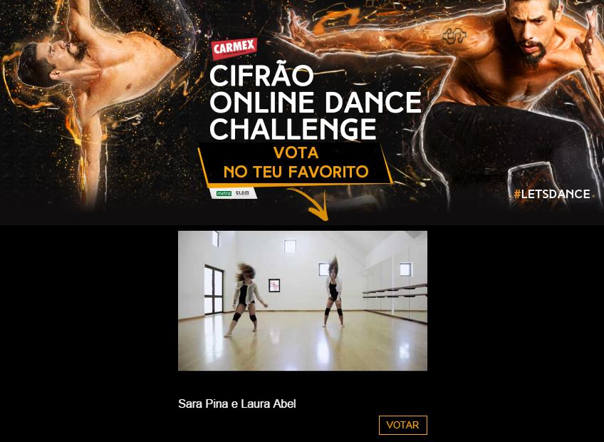 Sara Pina e Laura Abel no Cifrão Online Dance Challenge