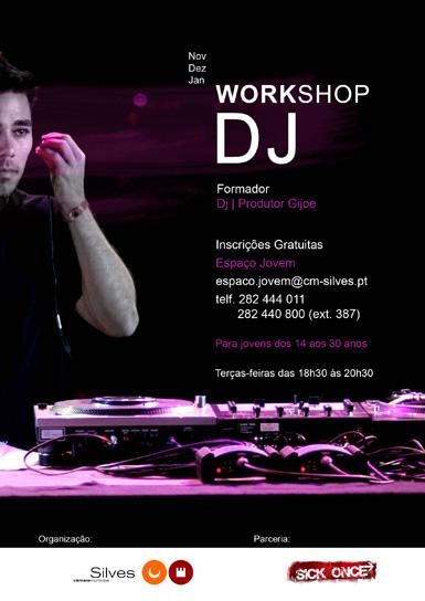 Workshop de DJ com Gijoe arranca dia 11